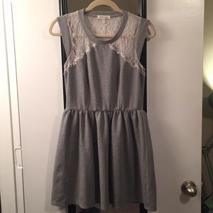 Grey Dress with White Lace